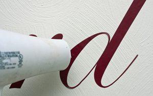 Vinyl Script Address Letters Milton